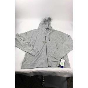 Gaiam Gray Zip Up Hoodie W/Stain AB345